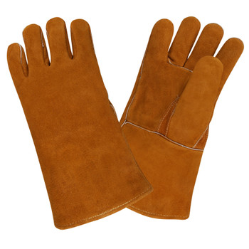 7635 REGULAR SHOULDER LEATHER WELDER  STRAIGHT THUMB WITH THUMB GUARD  KEVLAR SEWN  FULL SOCK LINING   RUSSET Cordova Safety Products