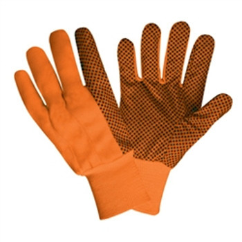 2710 HI-VIS ORANGE CANVAS  BLACK PVC DOTS  ORANGE KNIT WRIST Cordova Safety Products
