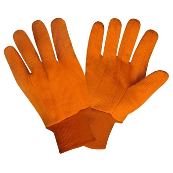 2800CD HI-VIS ORANGE DOUBLE PALM  POLYESTER/COTTON CORDED CANVAS  ORANGE KNIT WRIST Cordova Safety Products