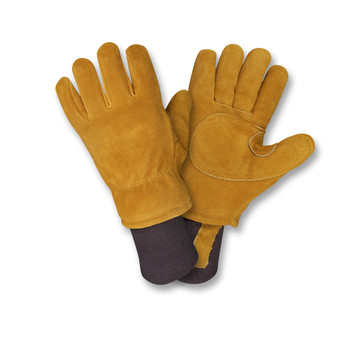 FB400M FREEZEBEATER PREMIUM RUSSET SIDE SPLIT COWHIDE LEATHER PALM  DOUBLE PALM & REINFORCED CROTCH  C150 THINSULATE LINED  HEAVY NYLON KNIT WRIST Cordova Safety Products