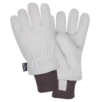 FB700L FREEZEBEATER PREMIUM GRAY SPLIT DEERSKIN LEATHER PALM  C150 THINSULATE LINED  HEAVY NYLON KNIT WRIST  KEVLAR SEWN Cordova Safety Products