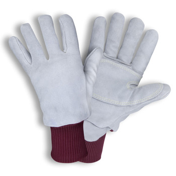 FB900L FREEZEBEATER PREMIUM GRAY SIDE SPLIT COWHIDE LEATHER PALM  DOUBLE PALM  C200 THINSULATE LINED  HEAVY NYLON KNIT WRIST  KEVLAR SEWN Cordova Safety Products