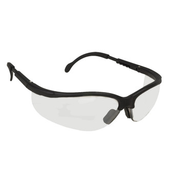 EKB10S BOXER  BLACK FRAME  CLEAR LENS  EXTENDABLE TEMPLES Cordova Safety Products