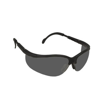 EKB20S BOXER  BLACK FRAME  GRAY LENS  EXTENDABLE TEMPLES Cordova Safety Products