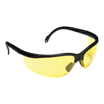 EKB30S BOXER  BLACK FRAME  AMBER LENS  EXTENDABLE TEMPLES Cordova Safety Products