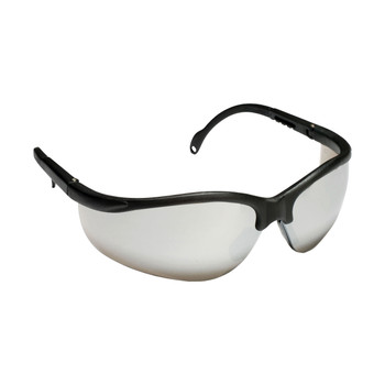 EKB70S BOXER  BLACK FRAME  SILVER MIRROR LENS  EXTENDABLE TEMPLES Cordova Safety Products