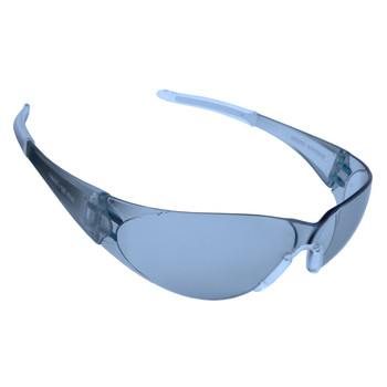 ENF15ST DOBERMAN  FROSTED BLUE FRAME  LIGHT BLUE ANTI-FOG LENS  CLEAR GEL NOSE PIECE & TEMPLE SLEEVES Cordova Safety Products