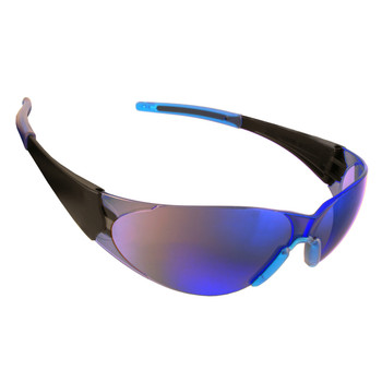 ENB60S DOBERMAN  BLACK FRAME  BLUE MIRROR LENS  BLUE GEL NOSE & TEMPLE SLEEVES Cordova Safety Products