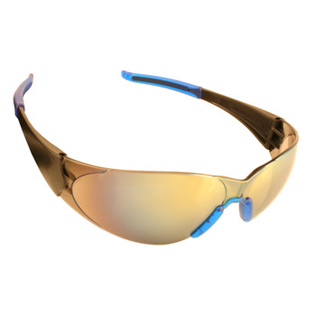 ENB70S DOBERMAN  BLACK FRAME  SILVER MIRROR LENS  BLUE-GRAY GEL NOSE & TEMPLE SLEEVES Cordova Safety Products