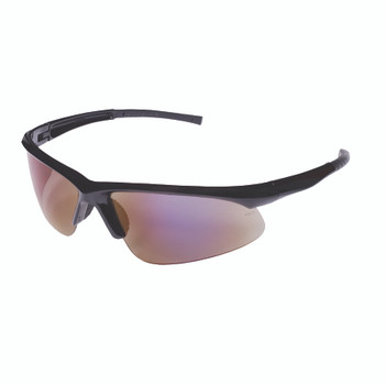 EOB60S CATALYST  BLACK GLOSS FRAME  BLUE MIRROR LENS  BAYONET TEMPLES Cordova Safety Products