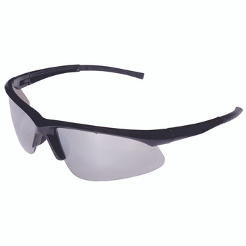 EOB70S CATALYST  BLACK GLOSS FRAME  SILVER MIRROR LENS  BAYONET TEMPLES Cordova Safety Products