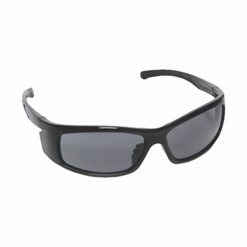 E02B20 VENDETTA  BLACK GLOSS FRAME  GRAY LENS  INTEGRATED SIDE SHIELDS Cordova Safety Products