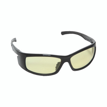 E02B30 VENDETTA  BLACK GLOSS FRAME  AMBER LENS  INTEGRATED SIDE SHIELDS Cordova Safety Products