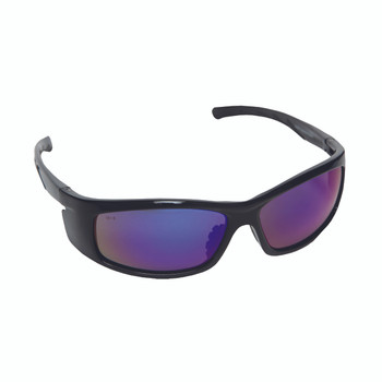 E02B65 VENDETTA  BLACK GLOSS FRAME  FUSION BLUE LENS  INTEGRATED SIDE SHIELDS Cordova Safety Products