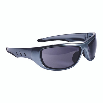 E03S20 AGGRESSOR  DARK SILVER FRAME  GRAY LENS  TPR NOSE PIECE & TEMPLES Cordova Safety Products