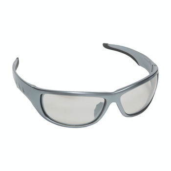 E03S50 AGGRESSOR  DARK SILVER FRAME  INDOOR/OUTDOOR LENS  TPR NOSE PIECE & TEMPLES Cordova Safety Products