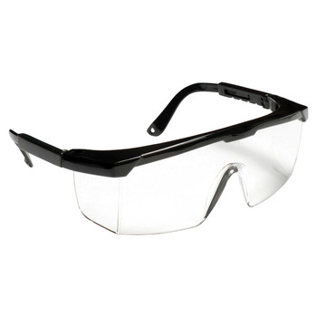 EJB10S RETRIEVER  BLACK FRAME  CLEAR LENS WITH INTEGRATED SIDE SHIELDS  ADJUSTABLE TEMPLES Cordova Safety Products
