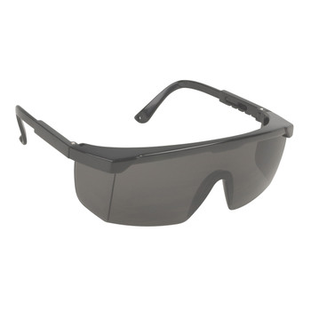 EJB20S RETRIEVER  BLACK FRAME  GRAY LENS WITH INTEGRATED SIDE SHIELDS  ADJUSTABLE TEMPLES Cordova Safety Products