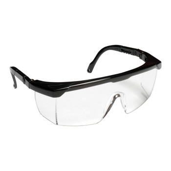 EMB10S RETRIEVER II  BLACK FRAME  CLEAR LENS WITH INTEGRATED SIDE SHIELDS  5-POSITION RATCHET  EXTENDABLE TEMPLES Cordova Safety Products