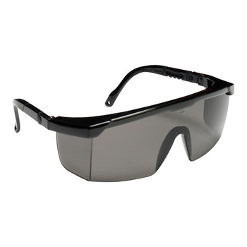EMB20S RETRIEVER II  BLACK FRAME  GRAY LENS WITH INTEGRATED SIDE SHIELDS  5-POSITION RATCHET  EXTENDABLE TEMPLES Cordova Safety Products