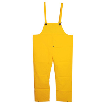 R8021FRBPM DEFIANCE FR  .28 MM PVC/NYLON/PVC  YELLOW BIB PANTS WITH FLY  LIMITED FLAME RESISTANCE  ATTACHED SUSPENDERS Cordova Safety Products