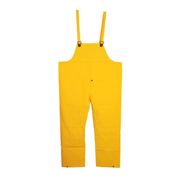 RB35YL STORMFRONT  .35 MM PVC/POLYESTER  YELLOW BIB PANTS WITH SUSPENDERS  SNAP FLY Cordova Safety Products