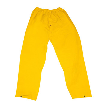 RWP35YL STORMFRONT  .35 MM PVC/POLYESTER  YELLOW RAIN PANTS WITH ELASTIC WAIST Cordova Safety Products