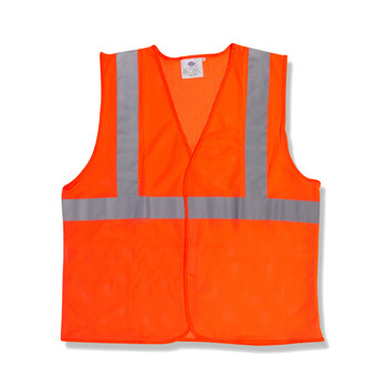 V210P3XL CLASS II  ORANGE MESH VEST  HOOK & LOOP CLOSURE  2-INCH SILVER REFLECTIVE TAPE  Cordova Safety Products