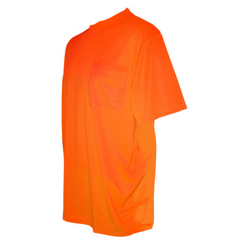 V130L COR-BRITE  NON-RATED  ORANGE BIRDSEYE MESH T-SHIRT  SHORT SLEEVES  CHEST POCKET Cordova Safety Products