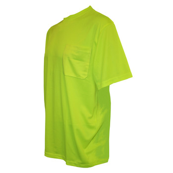 V131M COR-BRITE  NON-RATED  LIME BIRDSEYE MESH T-SHIRT  SHORT SLEEVES  CHEST POCKET Cordova Safety Products