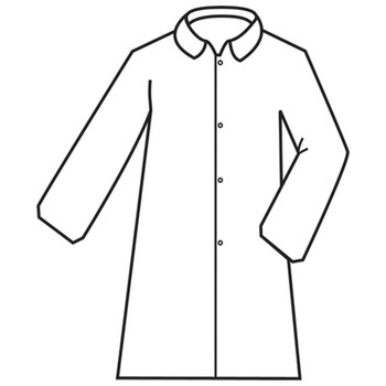 MPLAB100L DEFENDER II   WHITE MICROPOROUS LABCOAT WITH 4-SNAP FRONT & COLLAR  NO POCKETS  OPEN WRISTS Cordova Safety Products