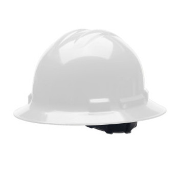 H34R1 DUO  WHITE FULL-BRIM STYLE HELMET  4-POINT RATCHET SUSPENSION Cordova Safety Products