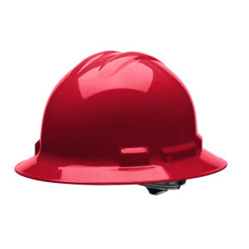 H34R4 DUO  RED FULL-BRIM STYLE HELMET  4-POINT RATCHET SUSPENSION Cordova Safety Products