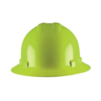 H34R6 DUO  HI-VIS GREEN FULL-BRIM STYLE HELMET  4-POINT RATCHET SUSPENSION Cordova Safety Products