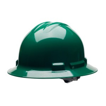 H34R9 DUO  FOREST GREEN FULL-BRIM STYLE HELMET  4-POINT RATCHET SUSPENSION Cordova Safety Products