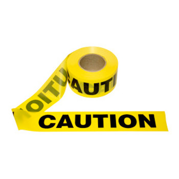 T15101 1.5 MIL Barricade Tape  YELLOW CAUTION   Cordova Safety Products
