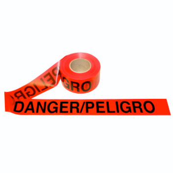 T20213 2.0 MIL Barricade Tape  RED BILINGUAL DANGER/PELIGRO Cordova Safety Products