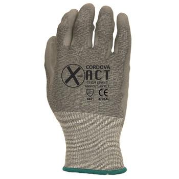 3733L X-ACT  18-GAUGE  HPPE/STEEL  GRAY POLYURETHANE PALM COATING  ANSI CUT LEVEL 2 Cordova Safety Products