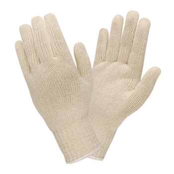 3435L 100%  COTTON  MEDIUM WEIGHT  NATURAL  MACHINE KNIT Cordova Safety Products