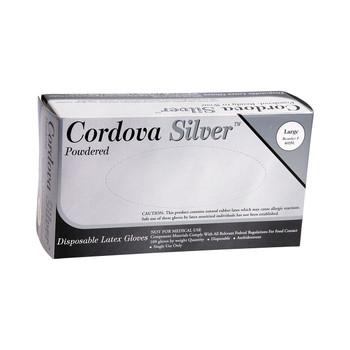4025M CORDOVA SILVER II  LATEX  COMMODITY/INDUSTRIAL GRADE  POWDERED Cordova Safety Products