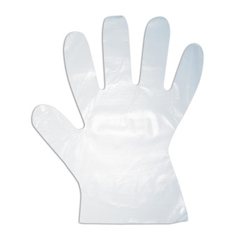 4102L HDPE (HIGH DENSITY)  POLYETHYLENE GLOVES  EMBOSSED  1-MIL Cordova Safety Products