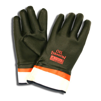 5300J OIL DEMON  BLACK/ORANGE DOUBLE DIPPED PVC  SANDY FINISH  JERSEY LINED  SAFETY CUFF Cordova Safety Products