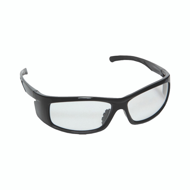 E02B10 VENDETTA  BLACK GLOSS FRAME  CLEAR LENS  INTEGRATED SIDE SHIELDS Cordova Safety Products