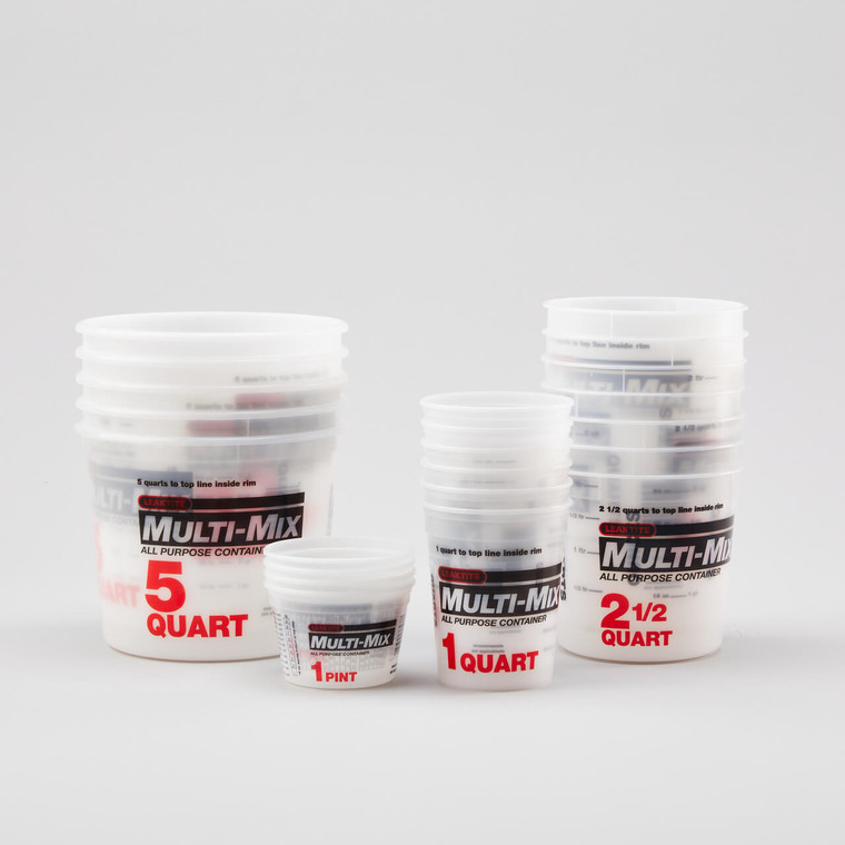 Measure & Mix Containers (Graduated)
