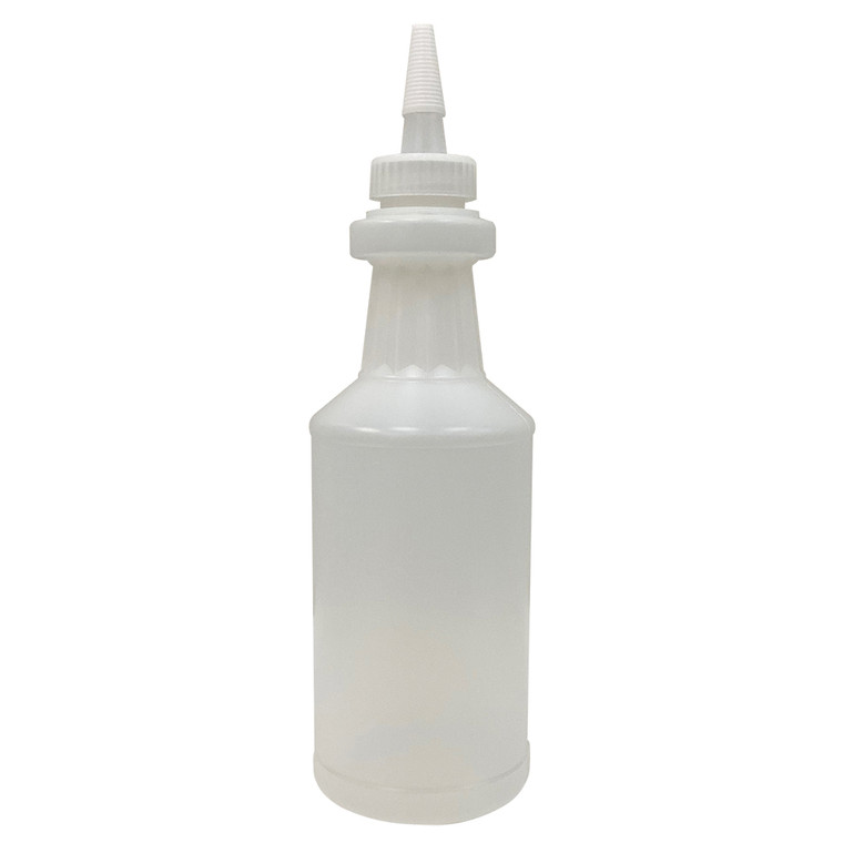 The 16 fl.oz. yorker style bottle and cap can be used for better control in the dispensing of liquids. Bottles are also ideal for down packing bulk resin for ease of use or for multiple workstations.