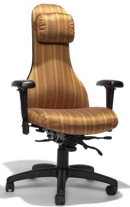 RFM Carmel High Back Executive Chair w/Headrest Pillow #8294