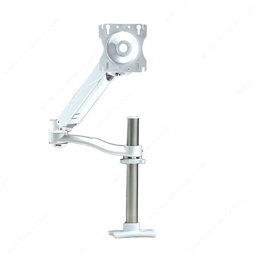 Richelieu Single Arm LCD Flat Panel Desk Mount - Triple Pivot with Height-Adjustable Segment GGF-500781630