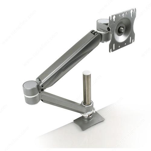 Richelieu Single Arm LCD Flat Panel Desk Mount - Single Screen, Double Extension, Height Adjustable GGF-500781830