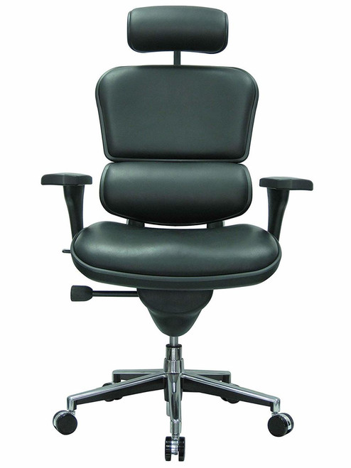 Ergohuman Leather High-Back Office Chair with Headrest GGF-LE9ERG
