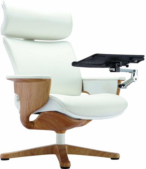 Nuvem White Leather Office Chair GGF-NUVEMWHT